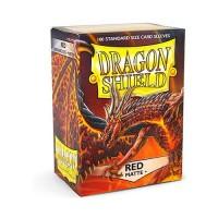 100 Protèges Rouge Mat - Dragon Shield