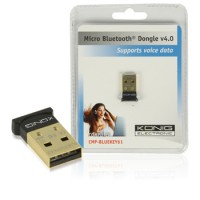 KONIG - Adaptateur Bluetooth V4.0, portée 20 m, USB 2.0