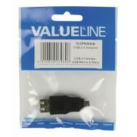 Adaptateur USB 2.0 type A (F) vers Micro-USB 2.0 type B (M)