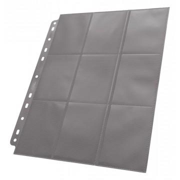 Feuilles pour classeurs grise 18 emplacements