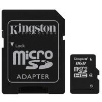 Carte mémoire KINGSTON MICRO SD - 8 Go, classe 4, adaptateur SD fourni